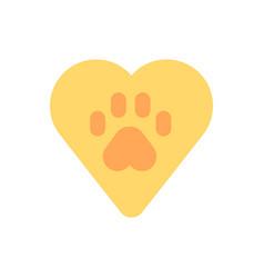 animal welfare flat color icon vector image
