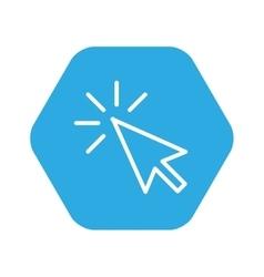 Arrow pointer isolated icon vector