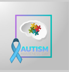 Autism awareness day icon design medical logo vector