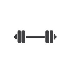 barbell logo icon design template vector image