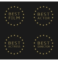 Best film labels vector image