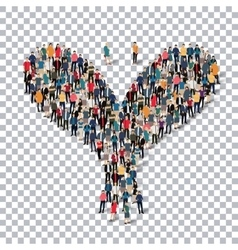 bird isometrick people 3d vector image