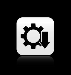 Black cost reduction icon isolated on black vector