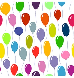 Bright colored ballons background Seamless pattern vector image