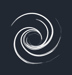 Brush swirl hand draw vector