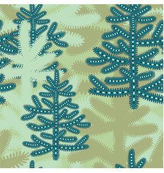 cartoon winter seamless pattern with stylized vector image