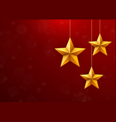 christmas festive background with christmas stars vector image