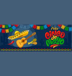 cinco de mayo banner vector image