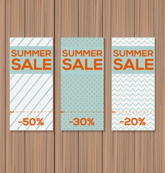 Collect Sale Signs with Tear-off Coupon vector