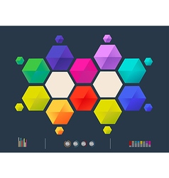 colorful triangle vector image
