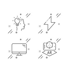 Computer energy and idea icons set augmented vector