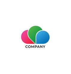 Creative multimedia studio logo design template vector