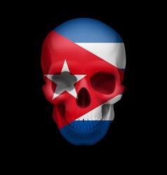 Cuban flag skull vector