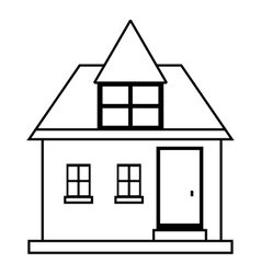 Cute country house icon outline style vector image