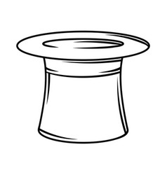 Cylinder hat black and white vector