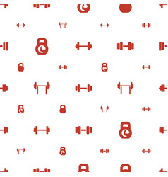Dumbbell icons pattern seamless white background vector