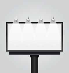 empty billboard signsignboard modern banner vector image