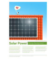 Energy concept background with solar panel 7 vector