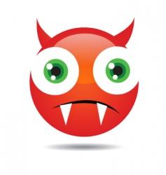 evil icon vector image