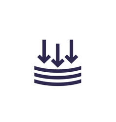 External pressure icon sign on white vector