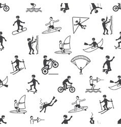 Extreme sports seamless pattern vector