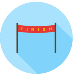 Finish line vector