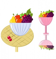fruit bowl vector image
