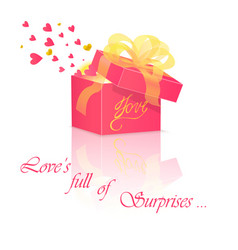 Gift box with love vector