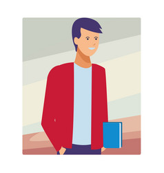 Guy student outfit vector