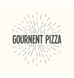 Hand drawn sunburst - gournent pizza vector