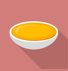 honey plate icon flat style vector image