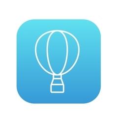 Hot air balloon line icon vector image