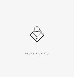 logo geometric silhouette style vector image