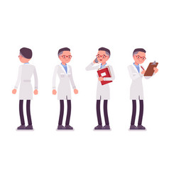 Male scientist standing vector