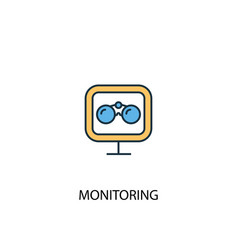 monitoring concept 2 colored line icon simple vector image