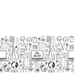 my blog sketch seamless border vector image