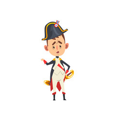napoleon bonaparte cartoon character comic french vector image