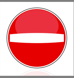 no entry do not enter relief traffic sign vector image