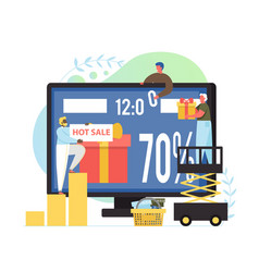 online shopping sale deals discounts vector image