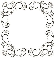 Ornate frame vector