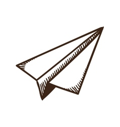 Paper airplane symbol vector image