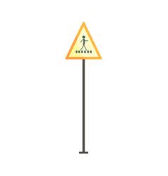 pedestrian crossing traffic sign vector image