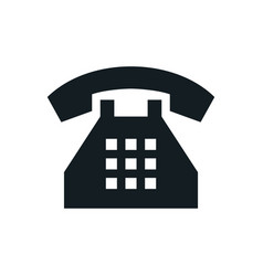 phone icons telephone symbol vector image