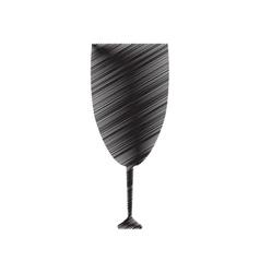 Pictogram cup glass drink beverage vector