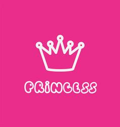 Princess calligraphic inscription for invitation vector