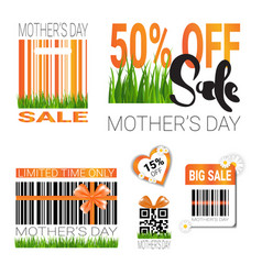 sale for mothers day badges set isolated special vector image