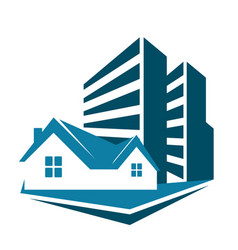 Sale of housing symbol for business vector