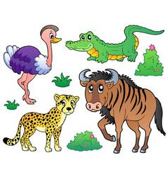 savannah animals collection 2 vector image