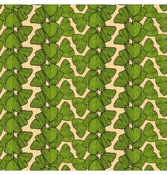 Seamless pattern with leaves of Gingko biloba vector