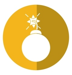Security system concept bomb icon shadow yellow vector